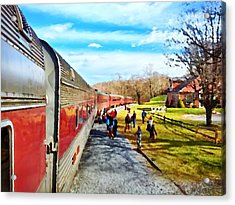 Country Train Depot Acrylic Print