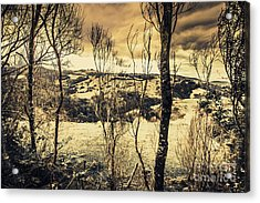 Country Victoria Winter Scene Acrylic Print by Jorgo Photography - Wall Art Gallery