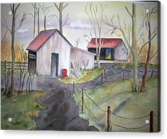 Countryside Dwellings Acrylic Print