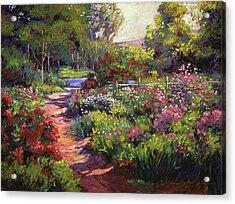 Countryside Gardens Acrylic Print by David Lloyd Glover