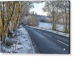Countryside Road In Central Scotland Acrylic Print