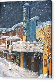 County Christmas Acrylic Print