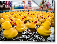 County Fair Rubber Duckies Acrylic Print by Todd Klassy