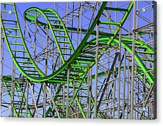 County Fair Thrill Ride Acrylic Print by Joe Kozlowski