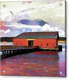 Coupeville Wharf Painterly Effect Acrylic Print