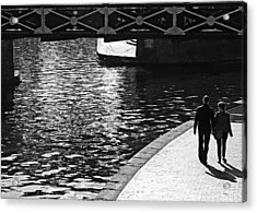 Acrylic Print featuring the photograph Couple And Canal by Adrian Pym