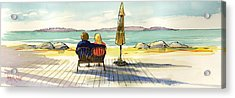 Couple At The Beach Acrylic Print by Ray Cole