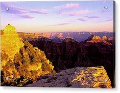 Couple Enjoys Grand Canyon Sunset Acrylic Print by Alan Lenk