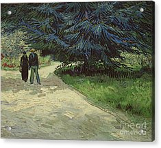 Couple In The Park Acrylic Print by Vincent Van Gogh