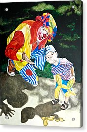 Couple Of Clowns Acrylic Print
