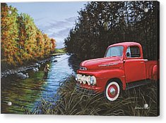 Couple Of Old Timers Acrylic Print