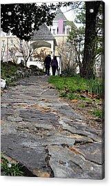 Couple On A Garden Path Acrylic Print