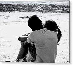 Couple On Beach Acrylic Print