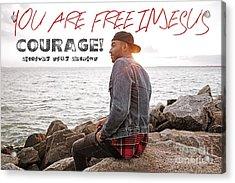 Courage Acrylic Print