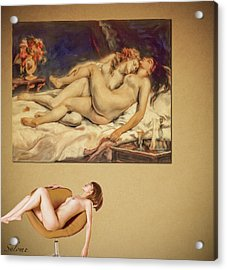 Courbet And A Woman Acrylic Print by Salome Hooper