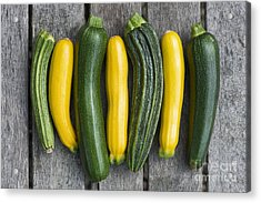 Courgette Harvest Acrylic Print by Tim Gainey