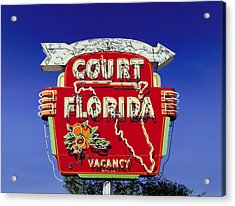 Court Florida Acrylic Print by Randy Ford