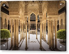 Court Of The Lions - Alhambra Palace - Granada Spain Acrylic Print
