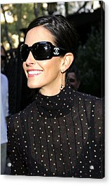 Courteney Cox Wearing Chanel Sunglasses Acrylic Print