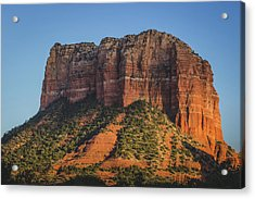 Courthouse Butte At Sunset Acrylic Print
