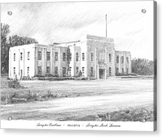 Courthouse Four Livingston Parish La Drawing Acrylic Print by Mike Theuer