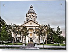 Courthouse In Moultrie Acrylic Print by Jan Amiss Photography
