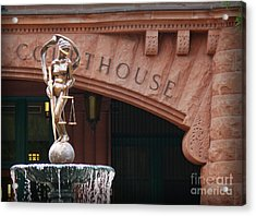 Courthouse Acrylic Print by Jeanne  Woods