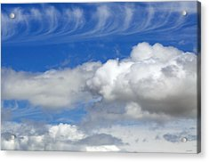 Acrylic Print featuring the photograph Courting Clouds by Gwyn Newcombe
