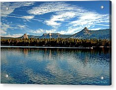 Acrylic Print featuring the digital art Courtright Reservoir by Visual Artist Frank Bonilla