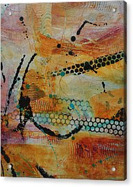 Acrylic Print featuring the painting Courtship 3 by Kate Word