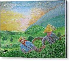 Courtship At The Tea-farm Acrylic Print by SAIGON De Manila
