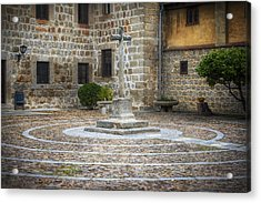 Courtyard At Convent Of The Incarnation Acrylic Print
