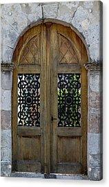 Courtyard Door In Villereal Acrylic Print