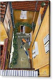 Courtyard In Milan Acrylic Print