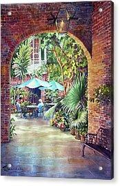 Courtyard Acrylic Print by Sue Zimmermann