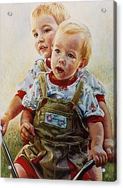Cousins Acrylic Print by Jean Hildebrant