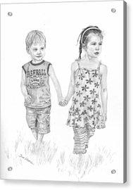 Cousins Acrylic Print by Sue Olson