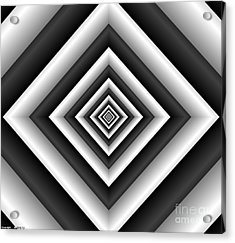 Covariance  6 Modern Geometric Black White Acrylic Print