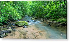 Acrylic Print featuring the photograph Cove Creek Panorama by Ranjay Mitra