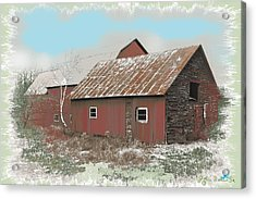 Coventry Barn Acrylic Print