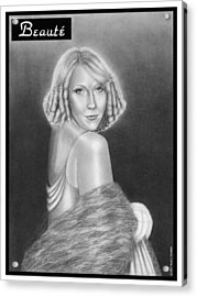 Cover Girl Acrylic Print by Nicole I Hamilton