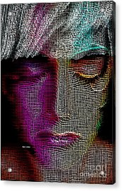 Acrylic Print featuring the digital art Cover Up by Rafael Salazar