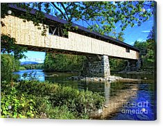 Acrylic Print featuring the photograph Covered Bridge by Gina Cormier