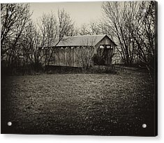 Covered Bridge In Upstate New York Acrylic Print by Bill Cannon