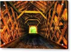 Covered Bridge Interior Acrylic Print