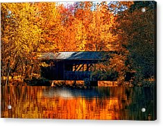 Covered Bridge Acrylic Print by Joann Vitali