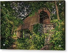 Acrylic Print featuring the photograph Covered Bridge by Lewis Mann