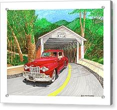 Covered Bridge Lincoln Acrylic Print by Jack Pumphrey