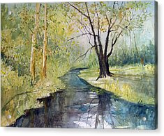 Covered Bridge Park Acrylic Print