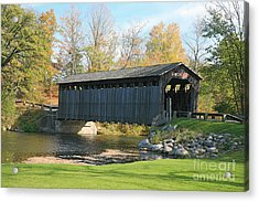 Covered Bridge Acrylic Print by Robert Pearson